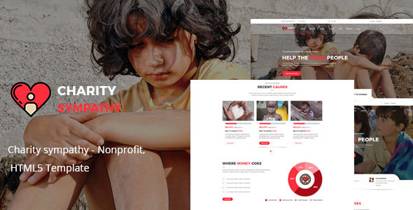 Charity sympathy - Nonprofit, Donation, Charity HTML5 Template            TFx
