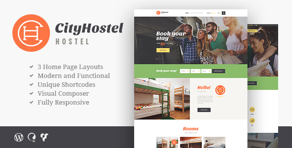 City Hostel | Travel & Hotel Booking Theme            TFx
