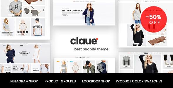 Claue – Clean, Minimal Shopify Theme            TFx Terry Hayato