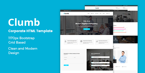 Clumb – Corporate HTML Template            TFx Rolph Lee