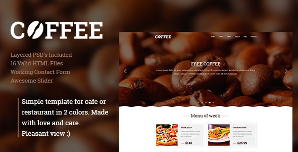 Coffee - Responsive Restaurant Cafe WordPress Theme            TFx Sahak Biff