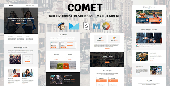 Comet – Email Template Multipurpose Responsive with Stampready Builder Access            TFx Geoffrey Elroy