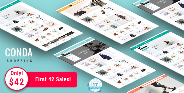 Conda - Shopping Responsive Prestashop 1.7 Theme            TFx