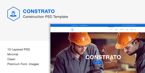 Constrato Construction PSD Template            TFx
