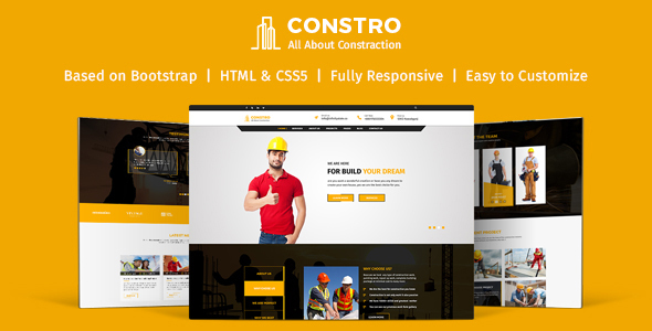 Constro - Construction Business HTML5 Template            TFx