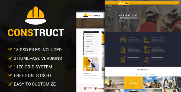 Construct - Constrcution PSD Template            TFx