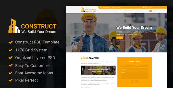 Construct - Construction PSD Template            TFx