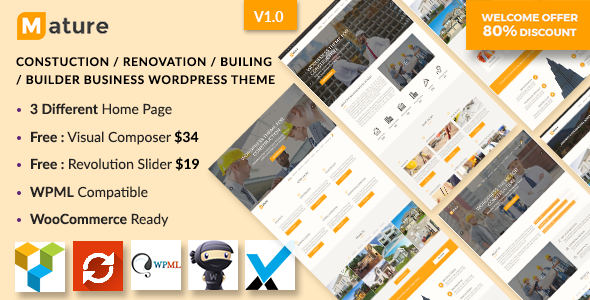 Construction – Construction And Building Business WordPress Theme            TFx