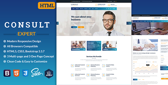 Consult Expert - Business Consulting , Finance & Professional Services HTML Template            TFx