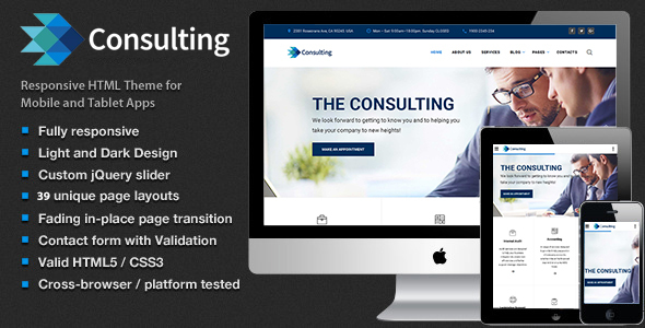 Consulting – Multipurpose Business, Finance and advisory Website Template            TFx Shirou Ulysses