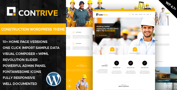 Contrive - Building & Construction Responsive WordPress Theme            TFx
