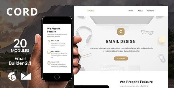 Cord Email Template + Online Emailbuilder 2.1            TFx
