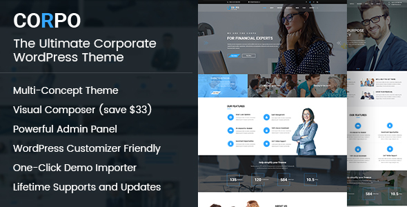 Corpo -  Modern Business and Corporate Theme For WordPress            TFx Tolly Ryder
