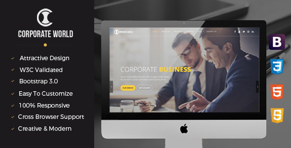 Corporate World | Business Consulting and Professional Services Resposive Bootstrap template            TFx