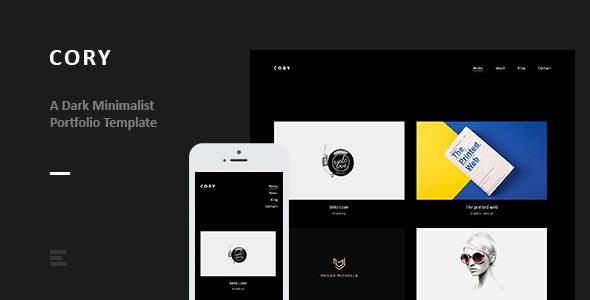 Cory - Dark Minimalist Portfolio Template            TFx