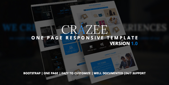 Crazee – Onepage Parallax Business Template            TFx Elroy Byron