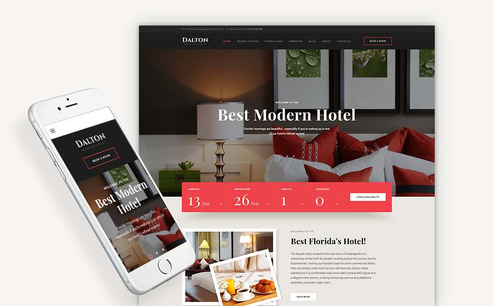 Dalton - Modern Hotel & Resort WordPress Theme TMT Theo Aric