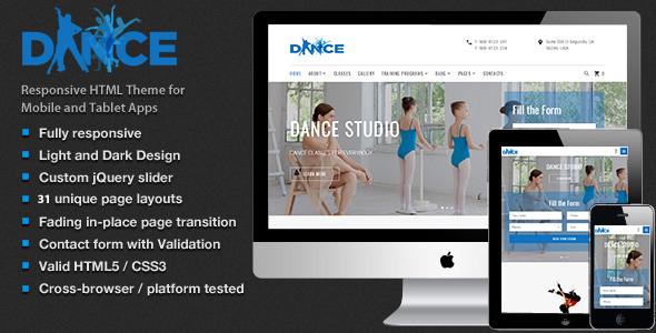 Dance Studio – Dancing Academy  HTML5 Template            TFx Merrill Cordell