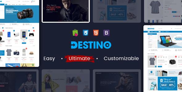 Destino - Responsive Multipurpose WooCommerce WordPress Theme            TFx