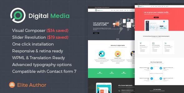 Digital Media - Digital Marketing WordPress theme            TFx