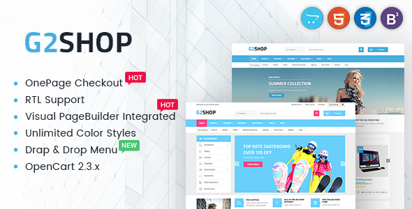Digital eCommerce OpenCart Theme - G2shop            TFx Cyril Yuuto