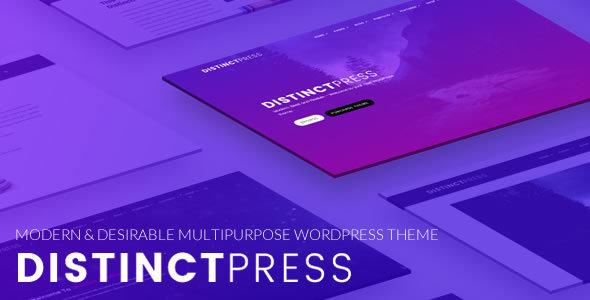 DistinctPress Pro - Modern, Multipurpose Creative WordPress Theme            TFx