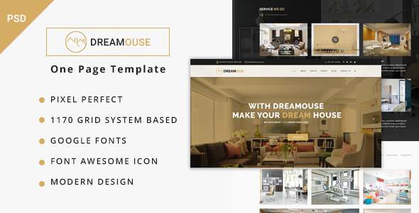 Dreamouse - Interior Design, Decor & PSD Template            TFx