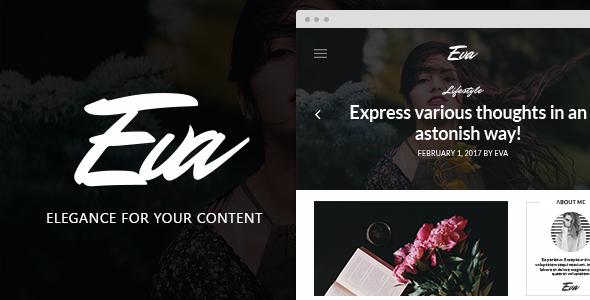 EVA - Elegant WordPress Theme for Creating Stories            TFx