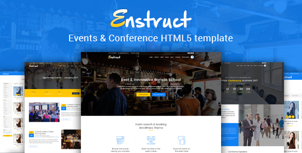 Enstruct - Events & Conference HTML5 Template            TFx