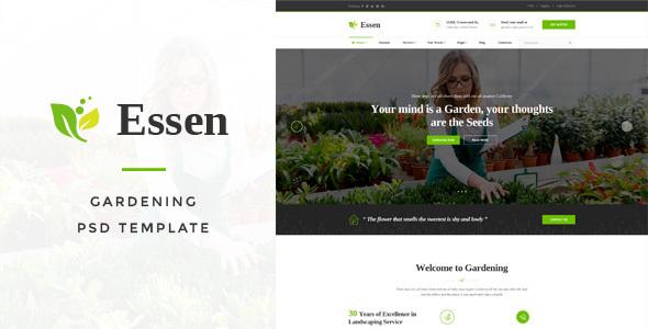 Essen - Gardening PSD Template            TFx