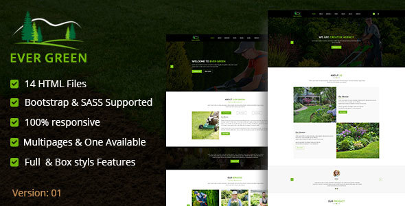 Ever Green HTML5 Responsive Template            TFx Brice Claude