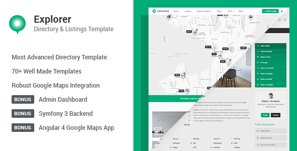 Explorer - Multi Concept Directory HTML Template            TFx