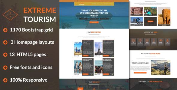 Extreme Tourism – Tourism & Adventure HTML5 Template            TFx Terell Dixon