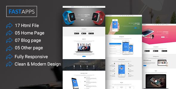 FASTAPPS Creative Mobile Apps Multiplepurpose HTML5 Template            TFx Laird Elwin