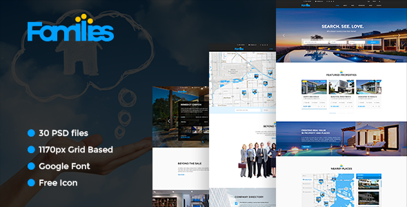 Families - Real Estate PSD Template            TFx