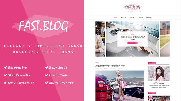 FastBlog - Elegant & Simple WordPress Blog Theme            TFx
