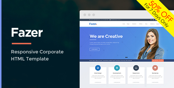 Fazer - Corporate Multipurpose HTML Template            TFx