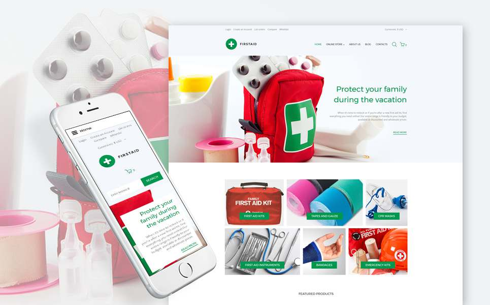 First Aid Responsive VirtueMart Template TMT Xander Tylor