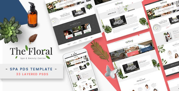 Floral - Spa and Beauty PSD Template            TFx Elroy Vinny