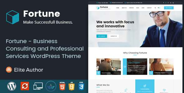 Fortune - Business Consulting and Professional Services WordPress Theme            TFx