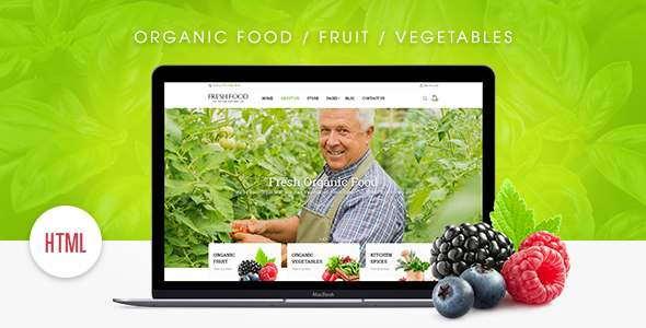 Fresh Food – Organic Food/Fruit/Vegetables eCommerce HTML Template            TFx