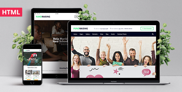 Fundraising - Ultimate Charity/Donations HTML Template            TFx