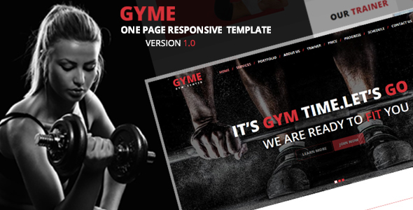 GYME - One Page Responsive Template            TFx