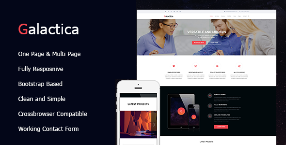 Galactica | Creative Multi-purpose WordPress Theme            TFx