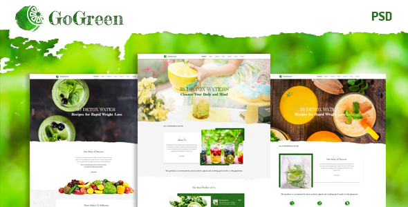 GoGreen | Restaurant ,Cafe HTML Template            TFx Gerrard Eddy