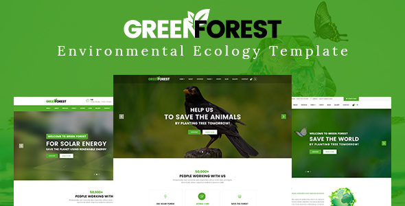 GreenForest - Environmental Ecology Responsive Template            TFx