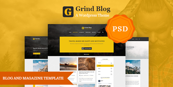 Grind Blog and Magazine Template            TFx Malik Micky