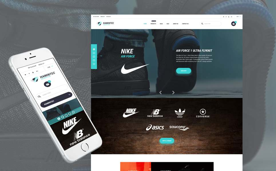 Hamintec – Luxury Quality Sneakers Store Shopify Theme TMT Oscar Carter
