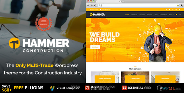 Hammer - Multi-Trade, Construction Business Theme            TFx