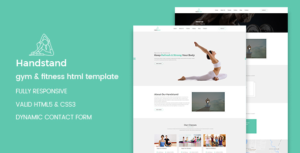 Handstand – Gym & Fitness HTML Template            TFx Hadley Tristin